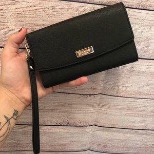 NWOT Kate Spade Black Phone Case Wristlet Wallet